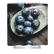 Cooking With Blueberries Shower Curtain