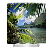 Cooks Bay With Sailboat Shower Curtain