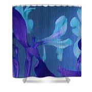 Cool Blue Lilies Shower Curtain