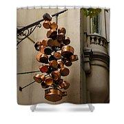 Cool Copper Pots - Parisian Restaurant Left Bank La Rive Gauche Shower Curtain