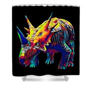 Cool Dinosaur Color Designed Creature Shower Curtain