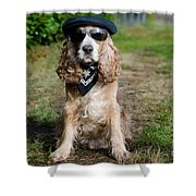 Cool Dog Shower Curtain
