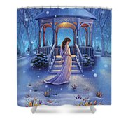 Cool Down - Crocus Shower Curtain
