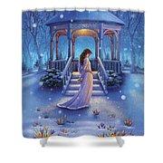 Cool Down - Crocus Shower Curtain by Anne Wertheim