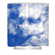 Cool Face In The Blue Sky Shower Curtain