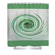 Cool Mint Whip Shower Curtain