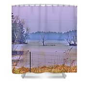 Cool Morning In Vermont Shower Curtain