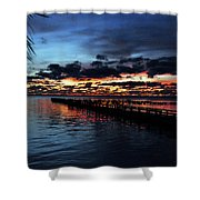 Cool Morning Rise  Shower Curtain