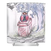 Cool Owl Shower Curtain