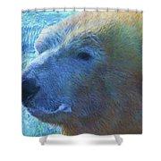 Cool Polar Bear Shower Curtain