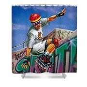 Cool Skater Shower Curtain