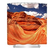Cool Spring Day At The Wave Shower Curtain