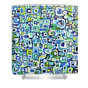 Cool Squares And Shapes Shower Curtain