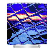 Cool Tile Reflection Shower Curtain