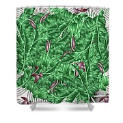 Cool Tropic  Shower Curtain