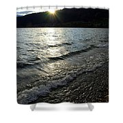 Cool Waters Sunset Shower Curtain