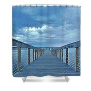 Cooling Sunset Shower Curtain