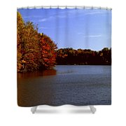 Coonhunter's Lake Shower Curtain