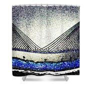 Cooper River Bridge Shower Curtain