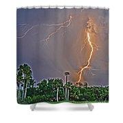 Cooper's Bayou Stricken Shower Curtain