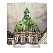Copenhagen Marble Church Shower Curtain