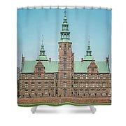 Copenhagen Rosenborg Castle Back Facade Shower Curtain