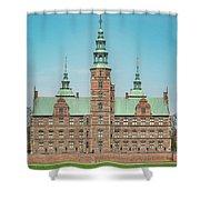 Copenhagen Rosenborg Castle Facade Shower Curtain