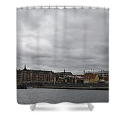 Copenhagen Skyline Shower Curtain
