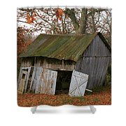 Copening Hill Shed Shower Curtain