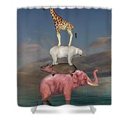 Coporate Collaboration  Shower Curtain