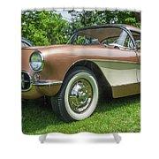 Copper 1967 Corvette  Shower Curtain