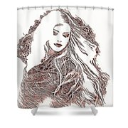 Copper Blonde Shower Curtain