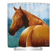 Copper Bottom - Quarter Horse Shower Curtain