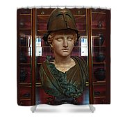Copper Bust In Rome Shower Curtain