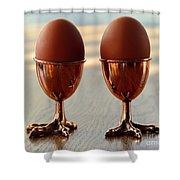 Copper Chicken Feet Egg Cups Shower Curtain