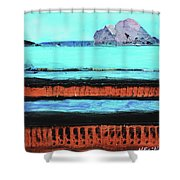 Copper Cliffs Beachside Shower Curtain