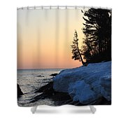 Copper Country Spring Sunrise Shower Curtain