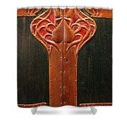 Copper Doors  Shower Curtain