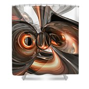 Copper Dreams Abstract Shower Curtain