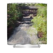 Copper Falls State Park Wisconsin. Shower Curtain