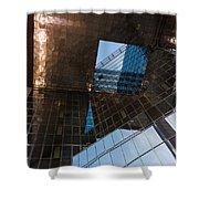 Copper Glass And Steel Geometry - Fabulous Modern Architecture In London U K Shower Curtain