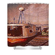 Copper Harbor Waterfront Shower Curtain