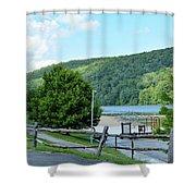 Copper Kettle Trail Shower Curtain