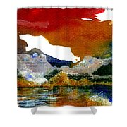 Copper Lake Shower Curtain