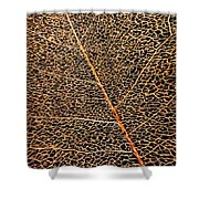 Copper Leaf Shower Curtain