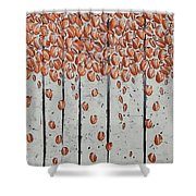 Copper Leaves Shower Curtain