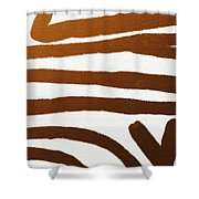 Copper Lines Shower Curtain