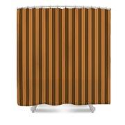 Copper Orange Striped Pattern Design Shower Curtain