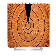 Copper Panel Abstract Shower Curtain