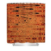 Copper Plates Double Abstract Shower Curtain